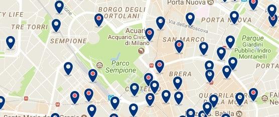 Milano - Parco Sempione - Haz clic para ver todos los hoteles en un mapa