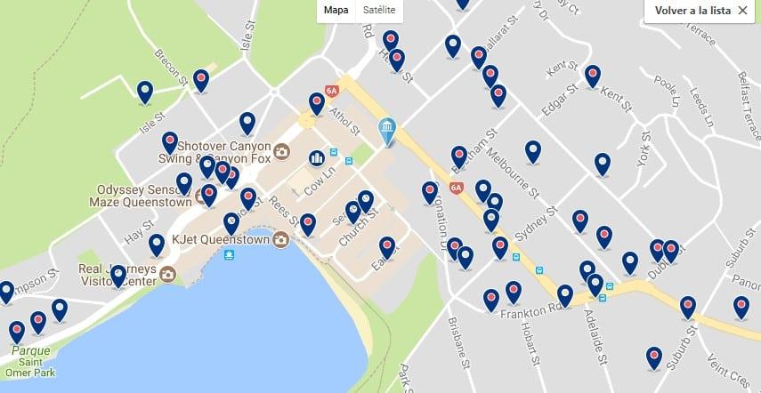 Queenstown - CBD - Haz clic para ver todos los hoteles en un mapa