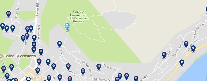 Queenstown - Queenstown Hill - Haz clic para ver todos los hoteles en un mapa