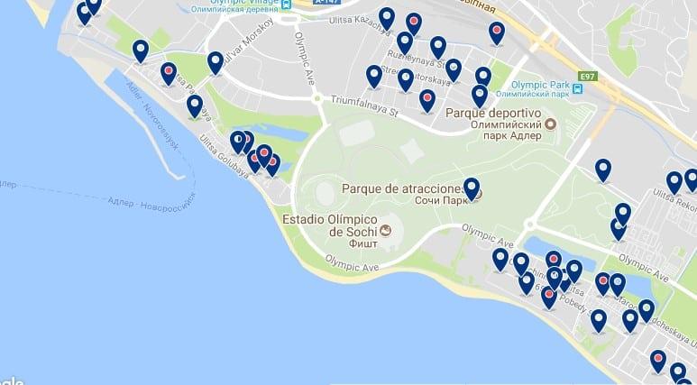 Sochi - Olympic Park - Haz clic para ver todos los hoteles en un mapa