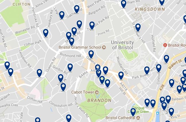 Bristol - Clifton - Haz clic para ver todos los hoteles en un mapa