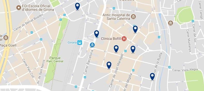 Girona - Estació - Fes clic per veure tots els hotels en un mapa