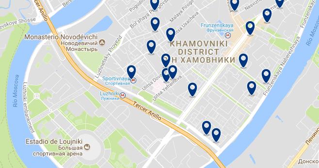 Moscú - Khamovniki - Haz clic para ver todos los hoteles en un mapa