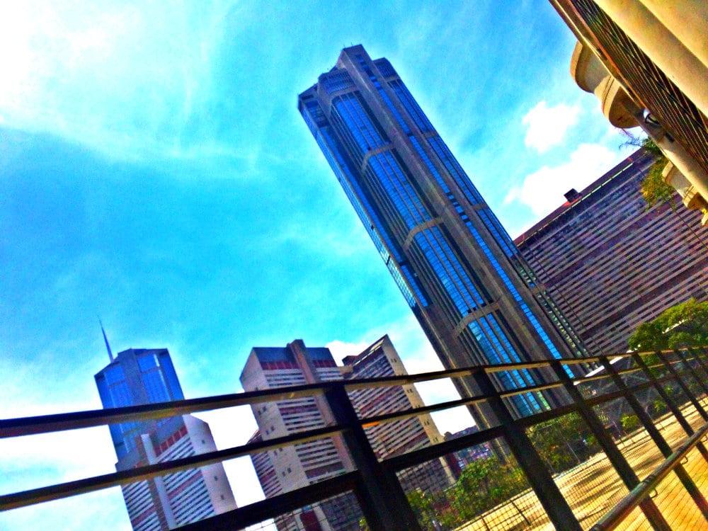 Vistas de Parque Central desde la Galería de Arte Nacional