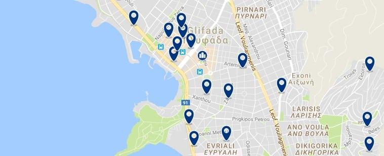 Atenas - Glyfada - Haz clic para ver todos los hoteles en un mapa