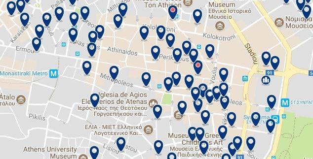 Atenas - Syntagma - Haz clic para ver todos los hoteles en un mapa