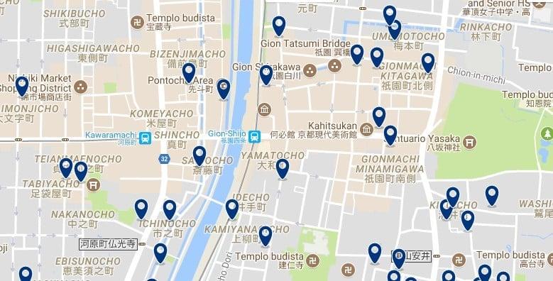 Kyoto - Gion - Haz clic para ver todos los hoteles en un mapa