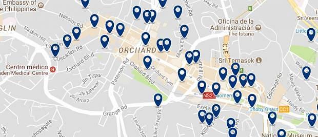 Singapur - Orchard Road - Haz clic para ver todos los hoteles en un mapa