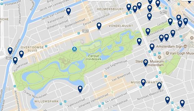 Amsterdam - Museum Quarter & Vondelpark - Haz clic para ver todos los hoteles en un mapa