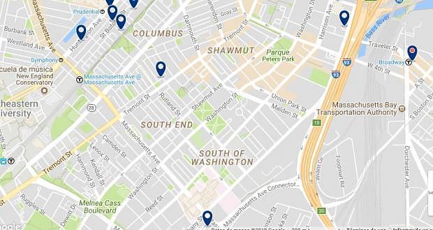 Boston - South End - Clicca qui per vedere tutti gli hotel su una mappa