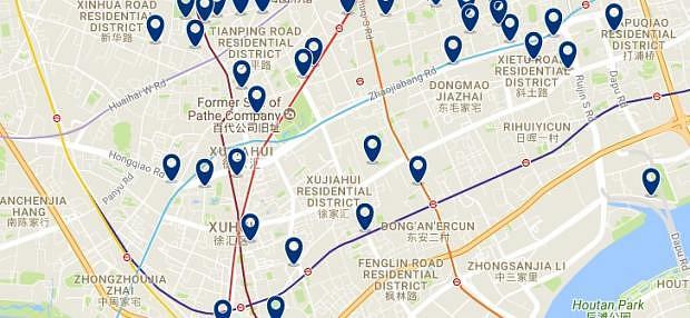 Shanghai - Xuhui - Haz clic para ver todos los hoteles en un mapa