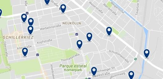 Berlin - Neukölln - Haz clic para ver todos los hoteles en un mapa