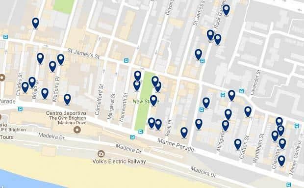 Brighton - Kemptown - Haz clic para ver todos los hoteles en un mapa