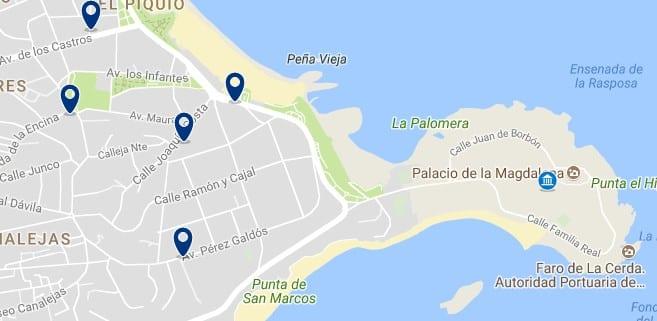 Santander - La Magdalena - Haz clic para ver todos los hoteles en un mapa