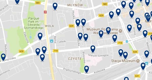 Varsovia - Wola - Haz clic para ver todos los hoteles en un mapa