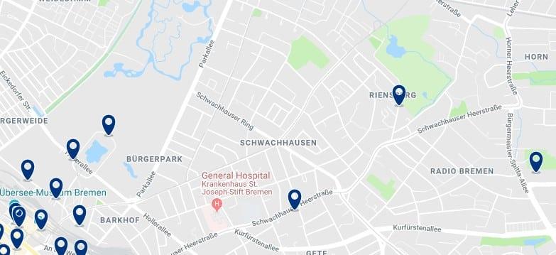 Bremen - Schwachhausen - Haz clic para ver todos los hoteles en un mapa