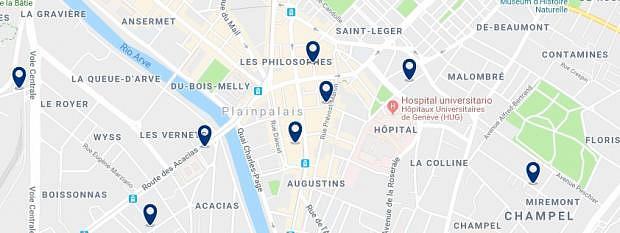 Ginebra - Plainpalais - Haz clic para ver todos los hoteles en un mapa