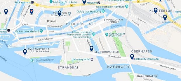 Amburgo - Hafencity - Clicca qui per vedere tutti gli hotel su una mappa