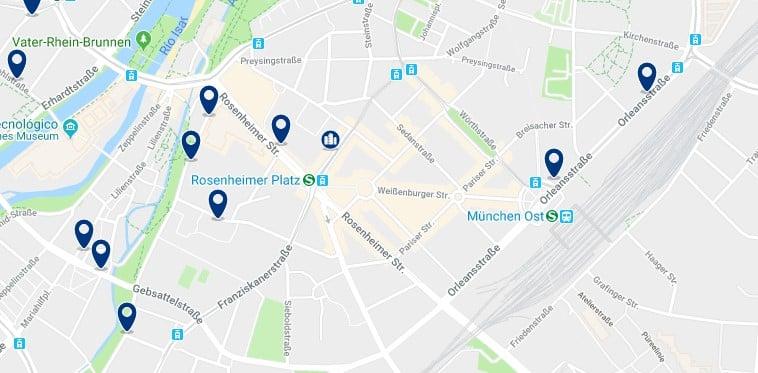 München - Au–Haidhausen - Haz clic para ver todos los hoteles en un mapa