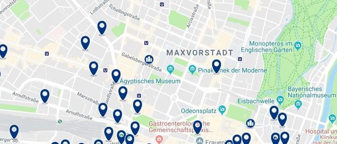 München - Maxvorstadt - Haz clic para ver todos los hoteles en un mapa