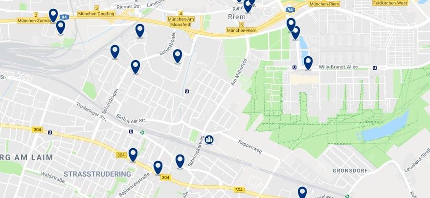 München - Trudering-Riem - Haz clic para ver todos los hoteles en un mapa.