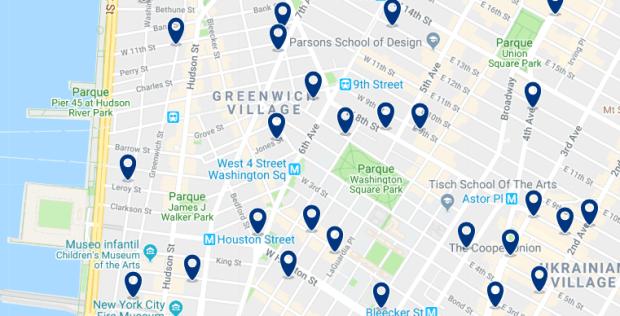 Nueva York - Greenwich Village - Haz clic para ver todos los hoteles en un mapa
