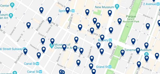 Nueva York - Little Italy - Haz clic para ver todos los hoteles en un mapa
