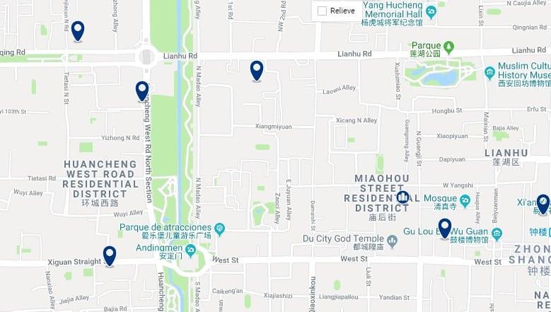 Xi'an - Lianhu - Haz clic para ver todos los hoteles en un mapa