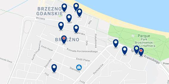 Gdansk – Brzezno – Haz clic para ver todos los hoteles en un mapa