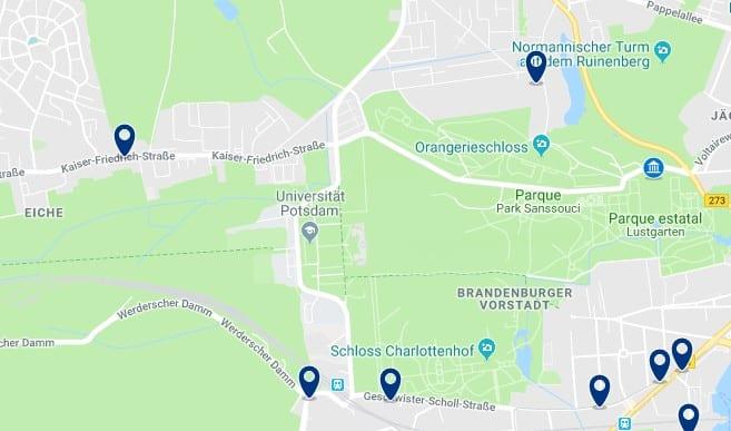 Potsdam - Schloss Sanssouci - Haz clic para ver todos los hoteles en un mapa