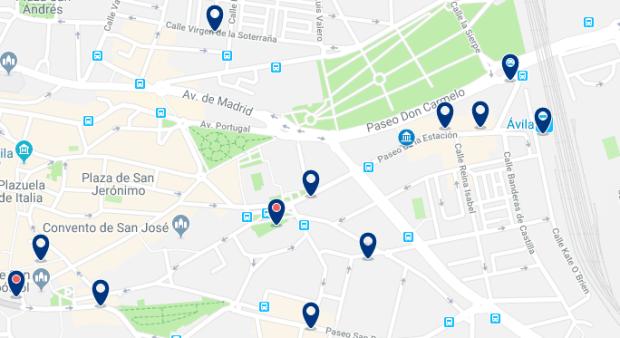 Ávila - Estación de Trenes de Ávila - Haz clic para ver todos los hoteles en un mapa