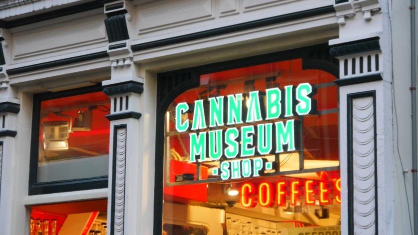 Coffeeshop del Barrio Rojo de Ámsterdam