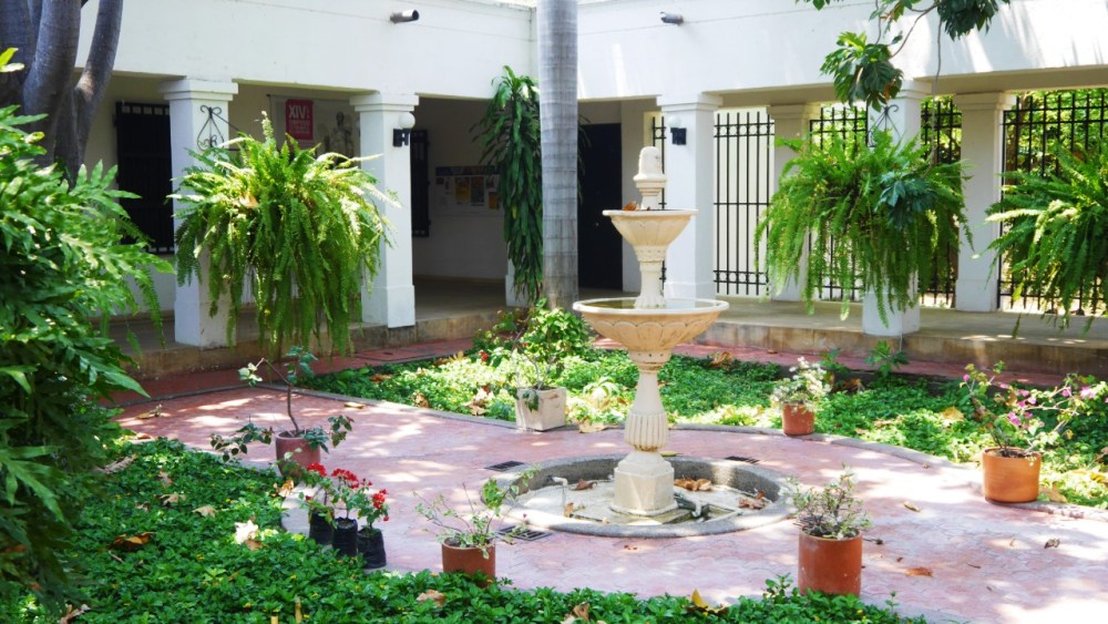 Patio del Museo Bolivariano de Arte Contemporáneo, Santa Marta