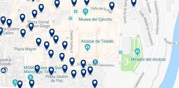 Toledo - Cerca del Álcazar - Haz clic para ver todos los hoteles en un mapa