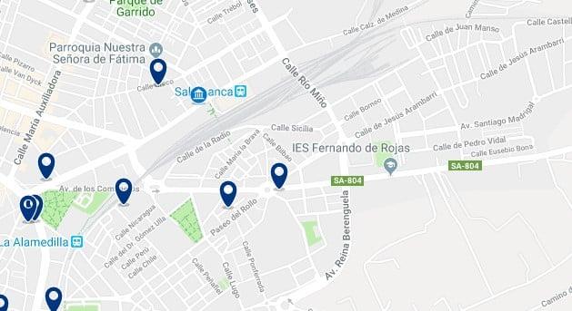 Alojamiento cerca de la estación de Salamanca - Haz clic para ver todo el alojamiento disponible en esta zona