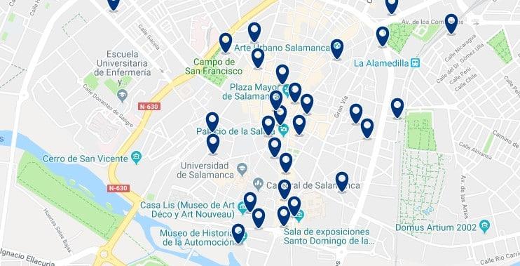 Alojamiento en el Centro Histórico de Salamanca - Haz clic para ver todo el alojamiento disponible en esta zona