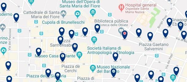 Florencia - Centro Storico - Haz clic para ver todos los hoteles en un mapa