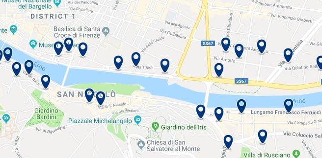 Florencia - Piazzale Michelangelo - Haz clic para ver todos los hoteles en un mapa