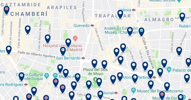 Madrid - Chamberí - Haz clic para ver todos los hoteles en un mapa