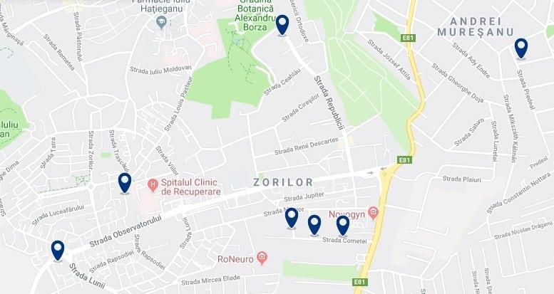 Cluj-Napoca - Zorilor - Clica sobre el mapa para ver todo el alojamiento en esta zona
