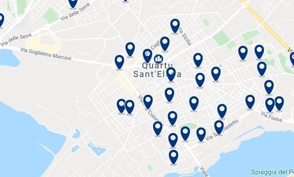 Cagliari - Quartu Sant'Elena - Clica sobre el mapa para ver todo el alojamiento en esta zona