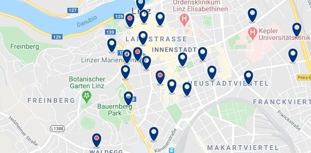 Linz - Altstadt - Clica sobre el mapa para ver todo el alojamiento en esta zona
