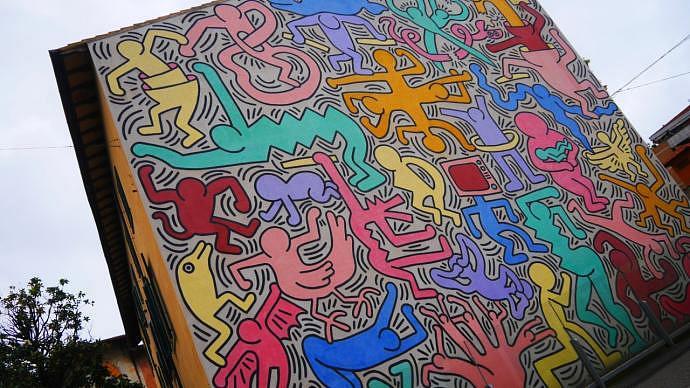 Qué ver en Pisa - Mural de Keith Haring
