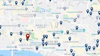 Dónde dormir en Londres para vida nocturna - City of London - Haz clic aquí para ver todos los hoteles en un mapa