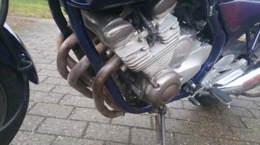 Motor kun let rengjort