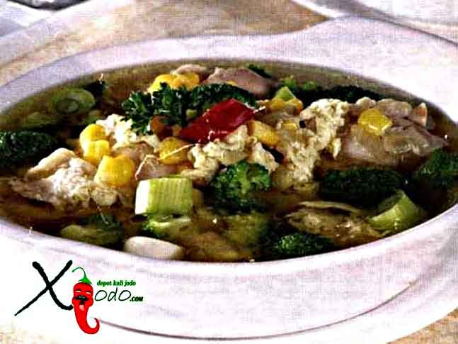 Sup Ayam Jagung Brokoli
