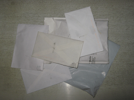 A pile of envelopes.
