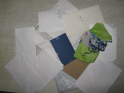 A pile of discarded packaging materials.