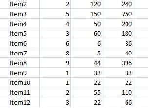 Rotate table using 1 formula