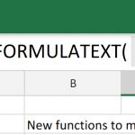 FORMULATEXT to show formulas